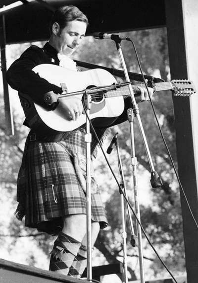 John Allan Cameron is shown performing at the Mariposa Folk Festival in 1969.